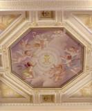 Bottega siciliana sec. XX, Affresco con Gloria del monogramma della Madonna