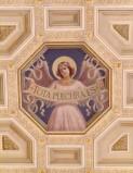 Bottega siciliana sec. XX, Affresco di Angelo reggicartiglio 1/2