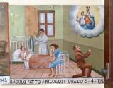 Bottega siciliana sec. XX, Dipinto ex voto con Guarigione miracolosa 3/5