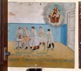 Bottega siciliana (1955), Dipinto ex voto con Guarigione miracolosa