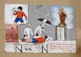 Bottega siciliana (1970), Dipinto ex voto con Guarigione miracolosa
