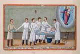 Bottega siciliana (1929), Dipinto con Guarigione miracolosa dopo intervento