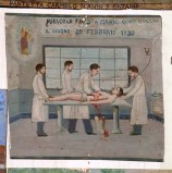 Bottega siciliana (1930), Dipinto ex voto con Guarigione miracolosa