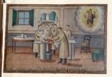 Bottega siciliana (1921), Dipinto ex voto con Guarigione miracolosa