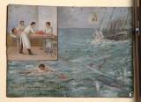 Bottega siciliana (1917), Dipinto ex voto con Guarigione dopo naufragio