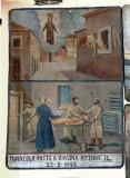 Bottega siciliana (1948), Dipinto ex voto con Salvataggio da caduta nel vuoto