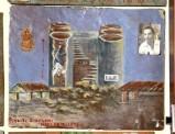 Bottega siciliana (1953), Dipinto ex voto con Salvataggio da caduta entro silos