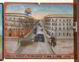Bottega siciliana (1935), Dipinto con Salvataggio da incidente automobilistico