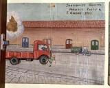 Bottega siciliana (1952), Dipinto con Salvataggio da incidente