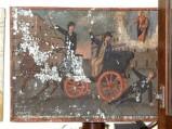 Bottega siciliana sec. XIX, Dipinto con Salvataggio da incidente con carrozza