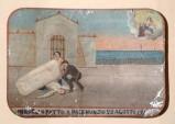 Bottega siciliana sec. XX, Dipinto ex voto con Salvataggio da schiacciamento