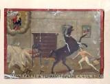 Bott. siciliana (1913), Dipinto ex voto con Salvataggio da cavallo imbizzarrito