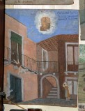 Bottega siciliana (1955), Dipinto ex voto con Salvataggio da caduta nel vuoto