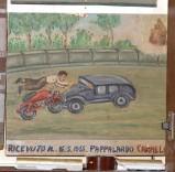 Bottega siciliana (1955), Dipinto con Salvataggio da incidente automobilistico