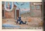 Bottega siciliana (1943), Dipinto ex voto con Salvataggio da bombardamento aereo