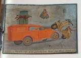 Bottega siciliana (1950), Dipinto con Salvataggio da incidente stradale