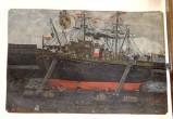 Bottega siciliana secc. XIX-XX, Dipinto ex voto con Salvataggio da naufragio