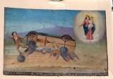 Bottega siciliana (1930), Dipinto con Salvataggio da incidente automobilistico
