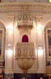 Bottega siciliana secc. XIX-XX, Pulpito con elementi scultorei a soggetto sacro