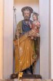 Bottega siciliana sec. XVIII, Statua di S. Giuseppe e Gesù Bambino