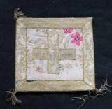 Manifattura napoletana sec. XVIII, Palla bianca broccato in argento