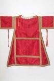 Manifattura siciliana sec. XIX, Dalmatica in damasco rosso 1/2