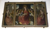 Ambito fiammingo sec. XV, Trittico de La Madonna degli Angeli