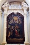 Bottega umbra sec. XVII, Mostra d'altare con Eterno su cimasa