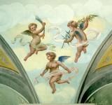Ambito umbro sec. XX, Angeli con palma e scimitarra
