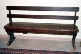 Ambito umbro sec. XX, Banco da chiesa largo con schienale a due listelli