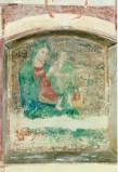 Ambito umbro sec. XV, Madonna con manto verde col Bambino