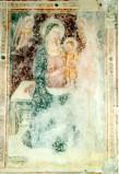 Maestro di Sant'Egidio sec. XIV, Madonna in trono col Bambino in piedi