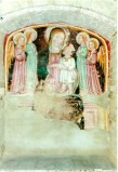 Ambito umbro sec. XV, Madonna col Bambino tra due angeli