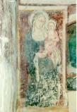 Maestro di Sant'Egidio sec. XIV, Madonna con manto scuro col Bambino