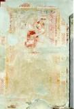 Ambito umbro sec. XV, Madonna con tunica rossa in trono col Bambino