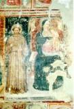 Maestro di Sant'Egidio sec. XIV, Madonna in trono col Bambino tra angeli