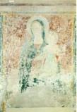 Ambito umbro sec. XV, Madonna con manto scuro in trono col Bambino