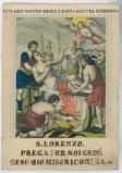 Stamperia Wentzel J. F. (1838-1869), Martirio di S. Lorenzo