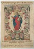 Calcografia Remondini sec. XVIII, Madonna del rosario con Gesù Bambino