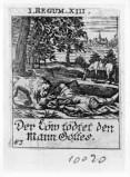 Küsel J. C.-Küsel M. M. (1688-1700), Profeta sbranato da un leone