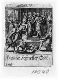Küsel J. C.-Küsel M. M. (1688-1700), Morte di Anania