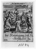 Küsel J. C.-Küsel M. M. (1688-1700), S. Stefano lapidato
