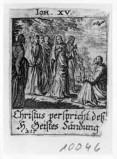 Küsel J. C.-Küsel M. M. (1688-1700), Gesù Cristo promette lo Spirito Santo