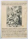 Calcografia Wagner J. sec. XVIII, Estasi di S. Maria Maddalena