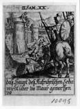 Küsel J. C.-Küsel M. M. (1688-1700), Testa di Seba gettata dalle mura