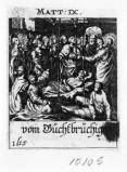 Küsel J. C.-Küsel M. M. (1688-1700), Guarisce del paralitico