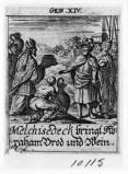 Küsel J. C.-Küsel M. M. (1688-1700), Melchisedek benedice Abramo