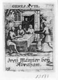 Küsel J. C.-Küsel M. M. (1688-1700), Abramo dona il cibo ai tre angeli