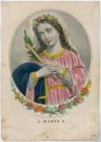 Calcografia Briola P. seconda metà sec. XIX, S. Marta
