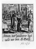 Küsel J. C.-Küsel M. M. (1688-1700), S. Pietro rifiuta il denaro di Simon mago